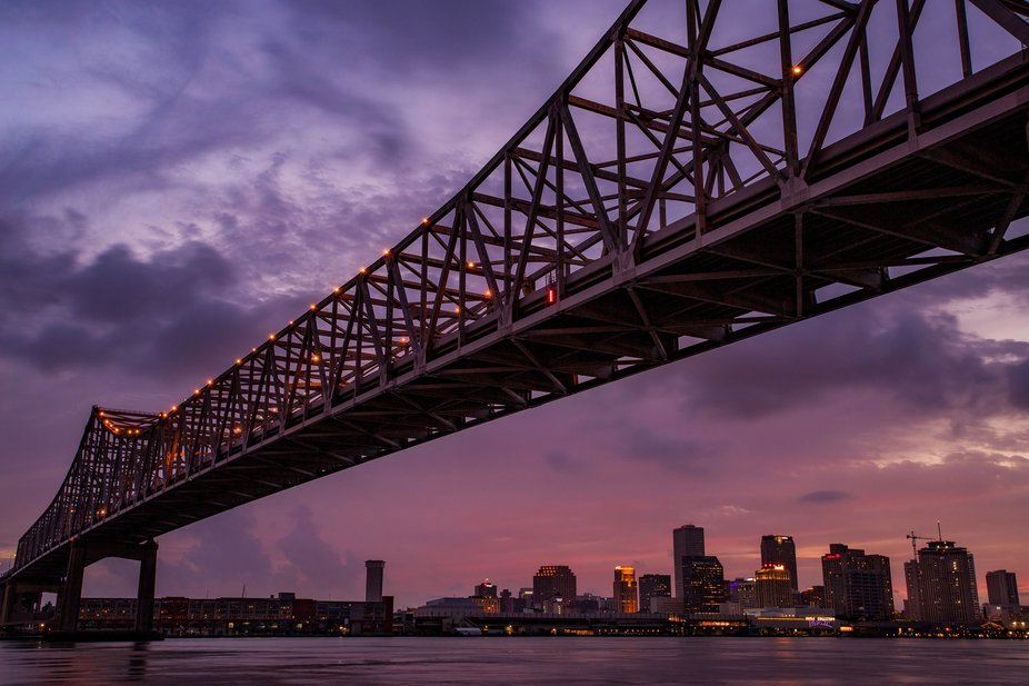 Sunset under the Crescent Connection Bridge