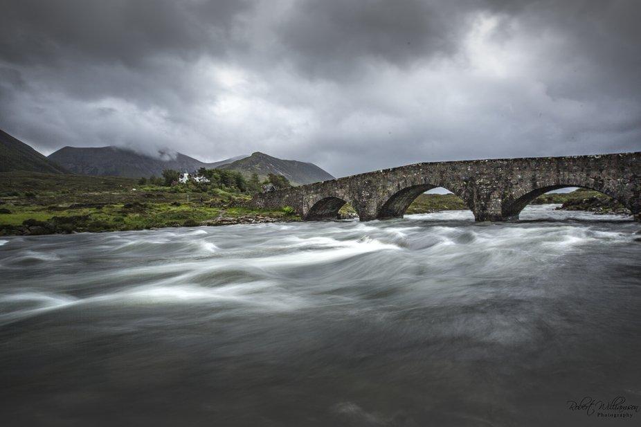 Picture of stone bridge taken on the isle of Skye Scotland