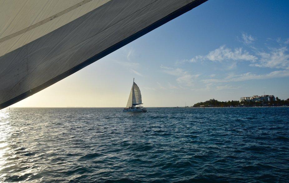 Sunset and Sailing Isla Mujeres