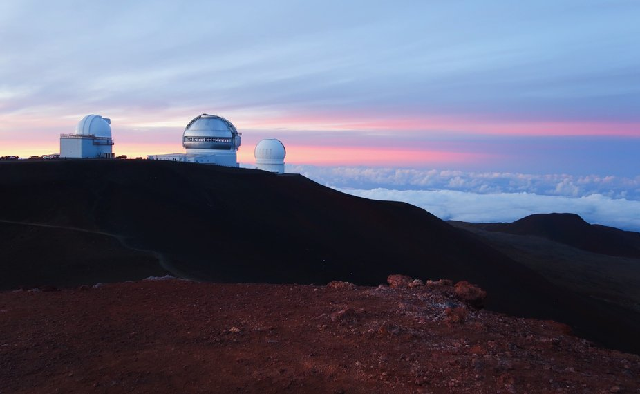 The top of Mauna Kea
