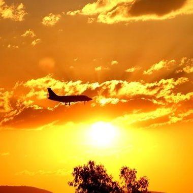 Sunset silhouette plane 7