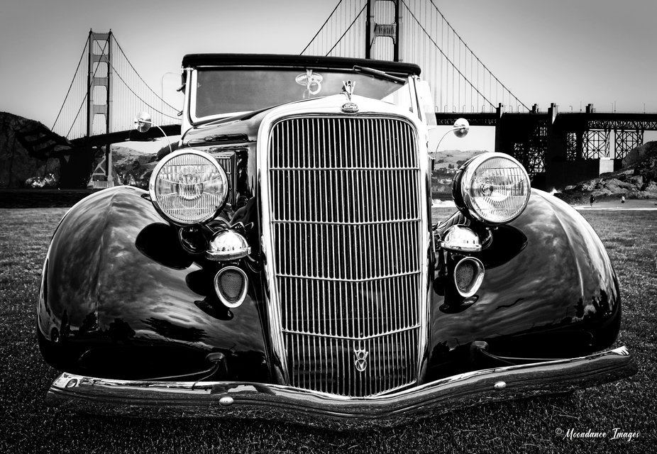 This is a composite photo.  The classic Ford Cabriolet was shot at a car show at Meridian, Idaho,...