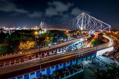 Blue Hour View Of Howrah Bridge