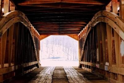 The bridges inside framed the beauty amoungst it.