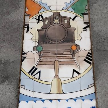 Sao Bento Railway Station Train Tile Porto Portugal