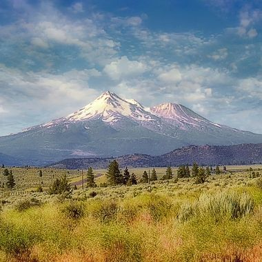Mount Shasta, from a old 35mm neg