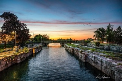 Sunset on the Old Canal