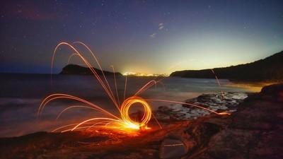 swirling sparks