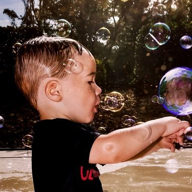 {Jax} Blowing Bubbles Touching Bubbles