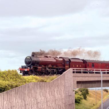London Midland and Scottish Railway (LMS) The Rolex Express, Princess Elizabeth a preserved British Steam Locomotive.