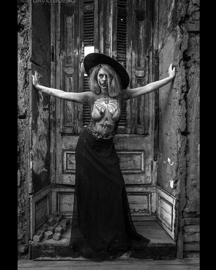 #modelo #bodypaint #BW #halloween #portrait