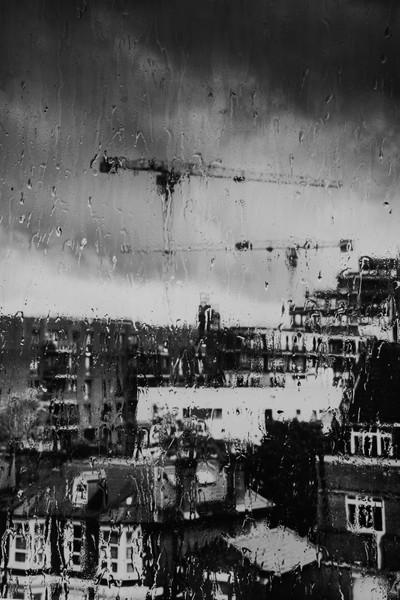 Rain on Glass Manor House