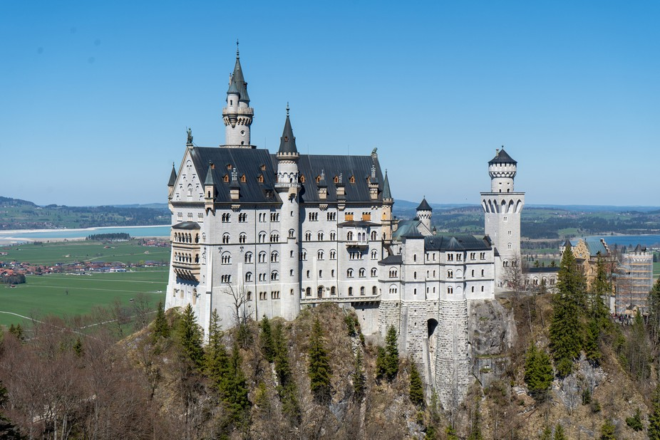 """""""Mad"""" King Ludwig II built this castle in the mid-19th century with an eye towa..."""