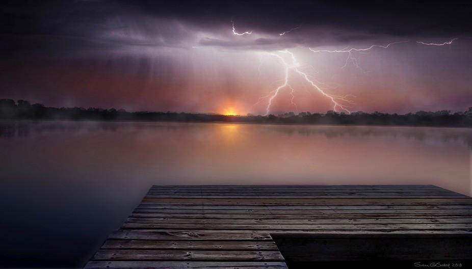 Sunrise beyond the storm
