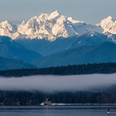 The beauty of Hood Canal with Mt. Constance