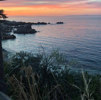 Sunset on Monterey Bay, CA