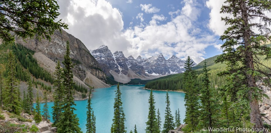 Cloudy Afternoon at Moraine Lake
