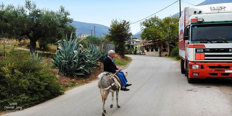 Donkey transportation VS a truck
