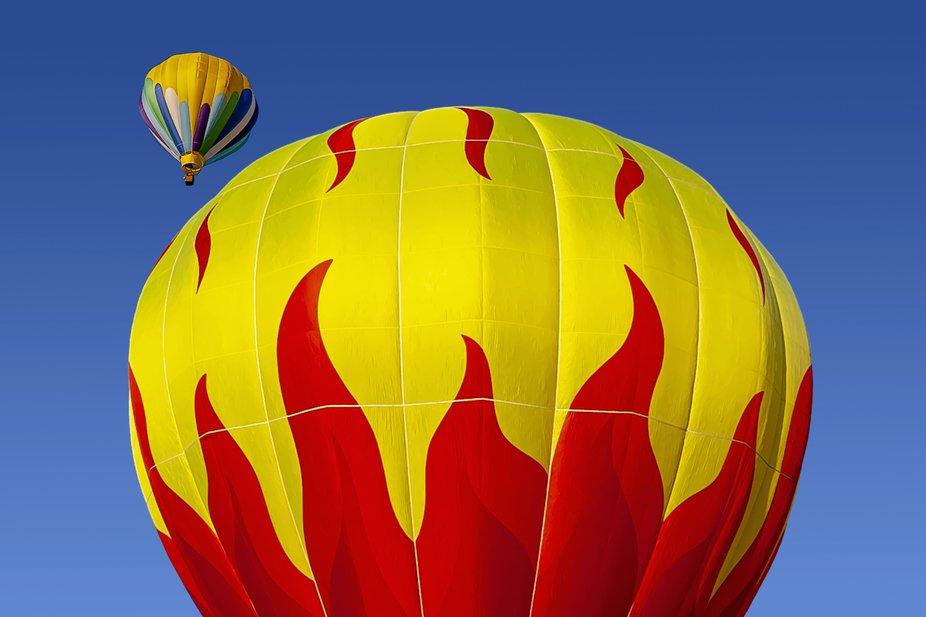 Red Hot Flame ballon at Tiger Park at the fair.