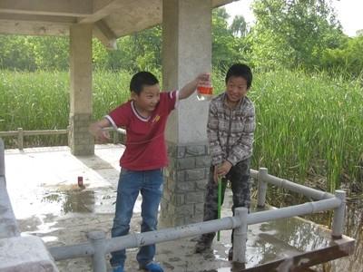Excited fishermen