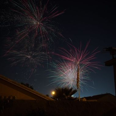 Neighborhood fireworks, They put on a great show.....