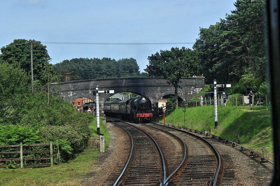 Steam Train passing through Weybourne, Norfolk, England