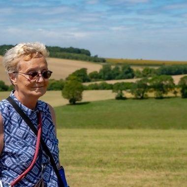 Liza enjoying the countryside.