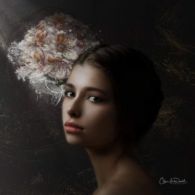A digital photo artistry canvas