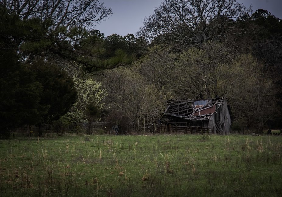 An old forgotten barn in the woods of Missouri.