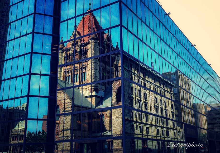 Trinity Church in reflection