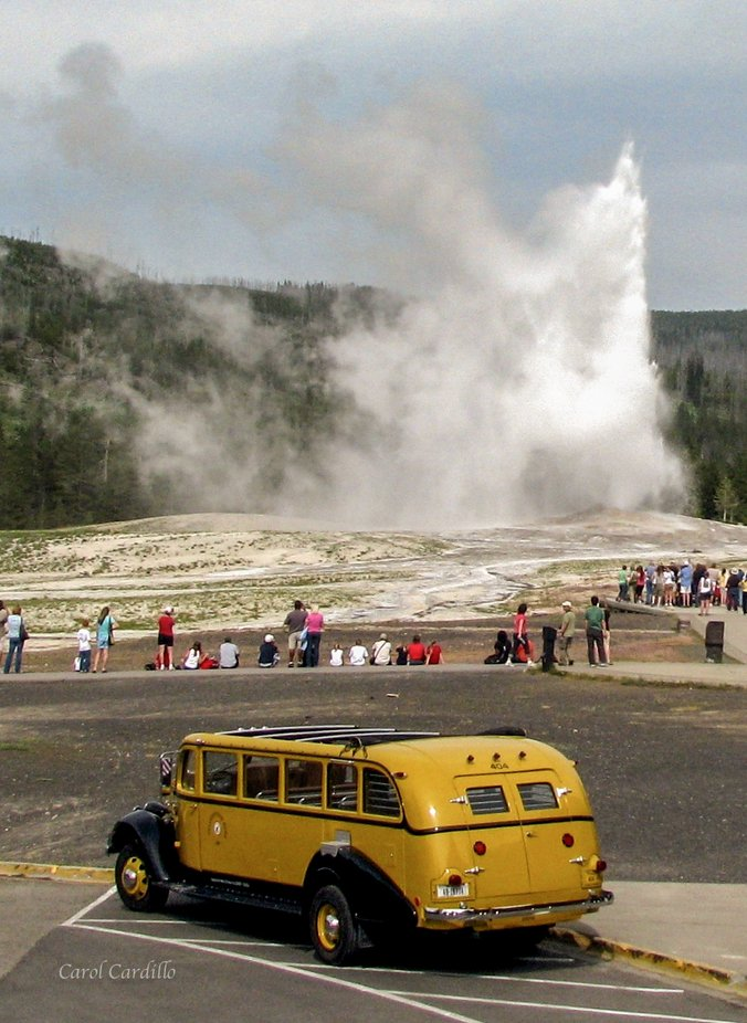 Old Faithful, taken on the 4th of July, several years ago.