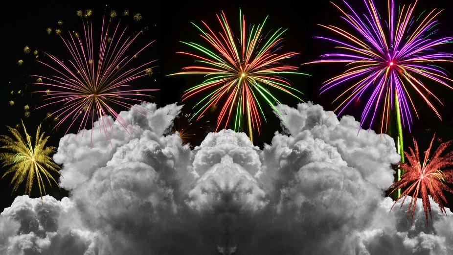 The celebration of Hermes is one of my Photodiseno's then I added some of my fireworks t...