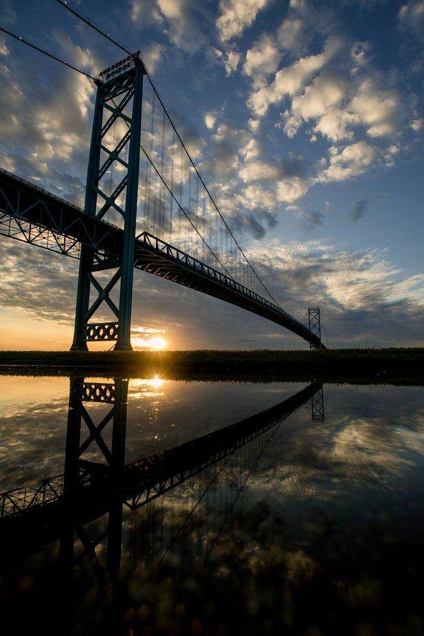 Reflect at sunset