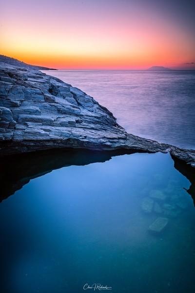 Sunrise over Giola Pool, Greece
