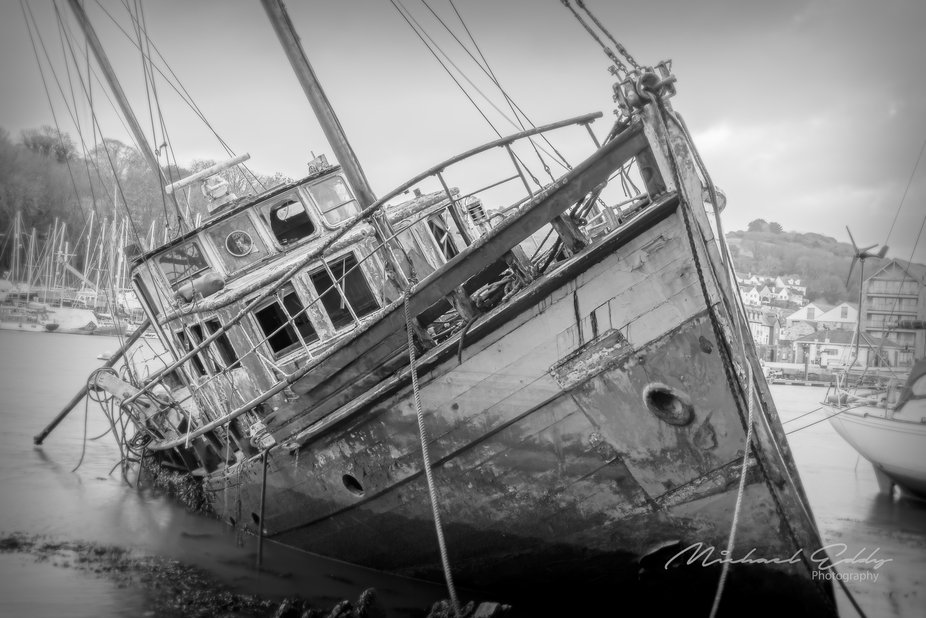 Laying in the Penryn River in Falmouth