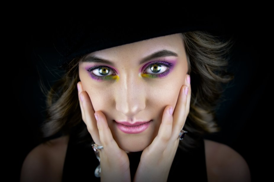 This was taken as a Beauty Shoot with one of my models.  The cosmetologist did an amazing job on ...