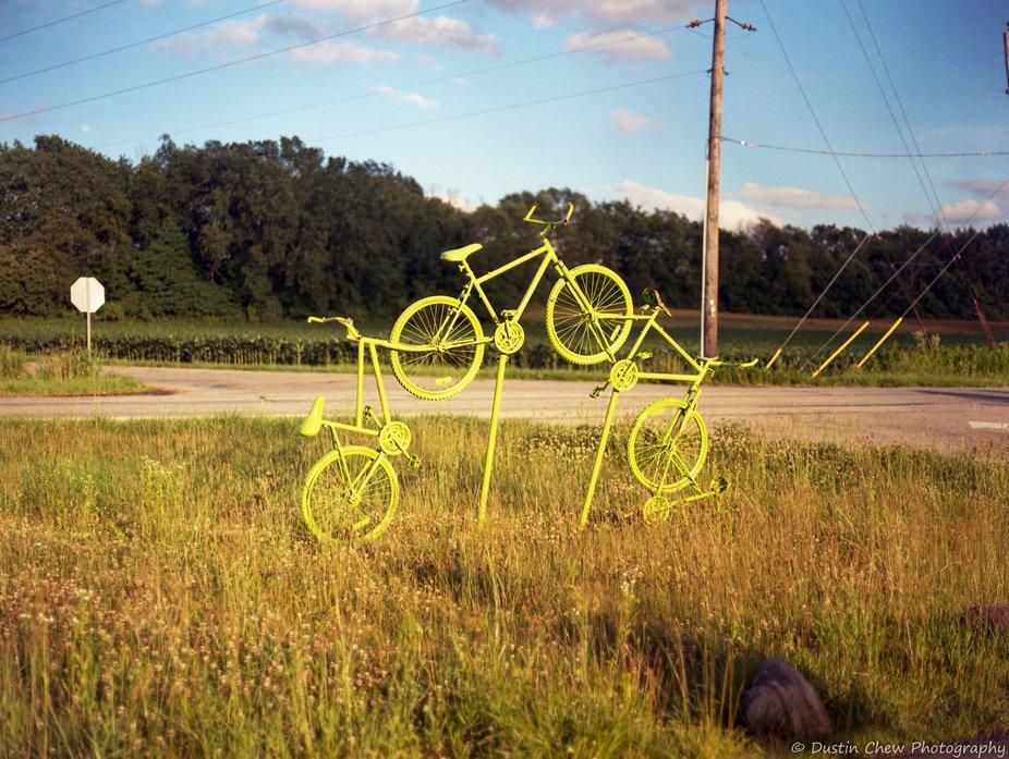 Cool use of old bikes @igersindiana