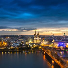 Blue hour in Cologne / Germany