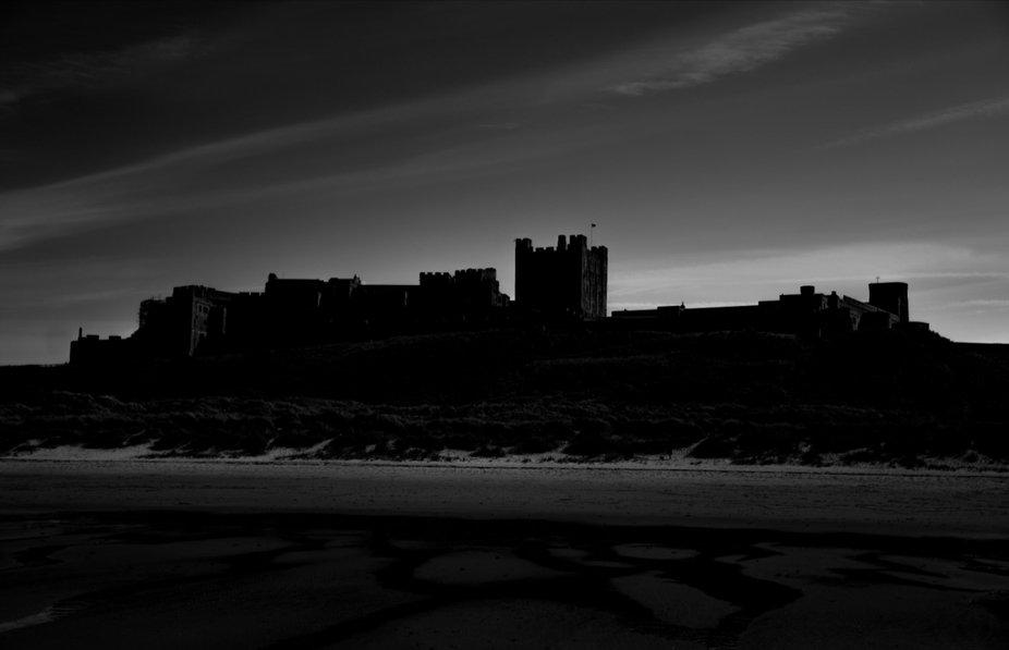 Silhouette of Bamburgh Castle