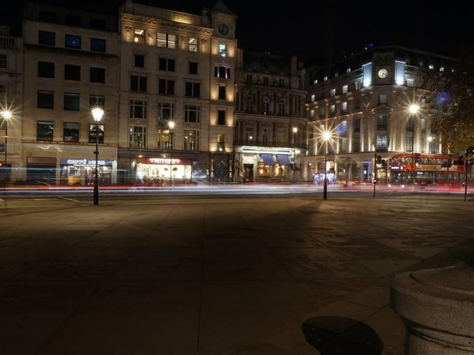 Trafalgar square, looking out.