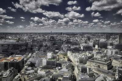 london from high above