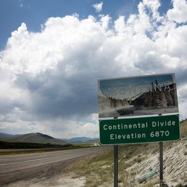 Montana State Line, the Continental Divide.