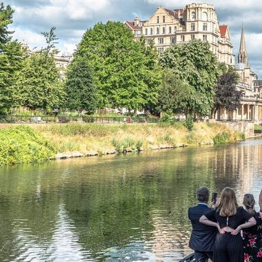 It was the last day of the graduation ceremonies for the University of Bath.  Everywhere people were seeking ideal locations for family photographs.