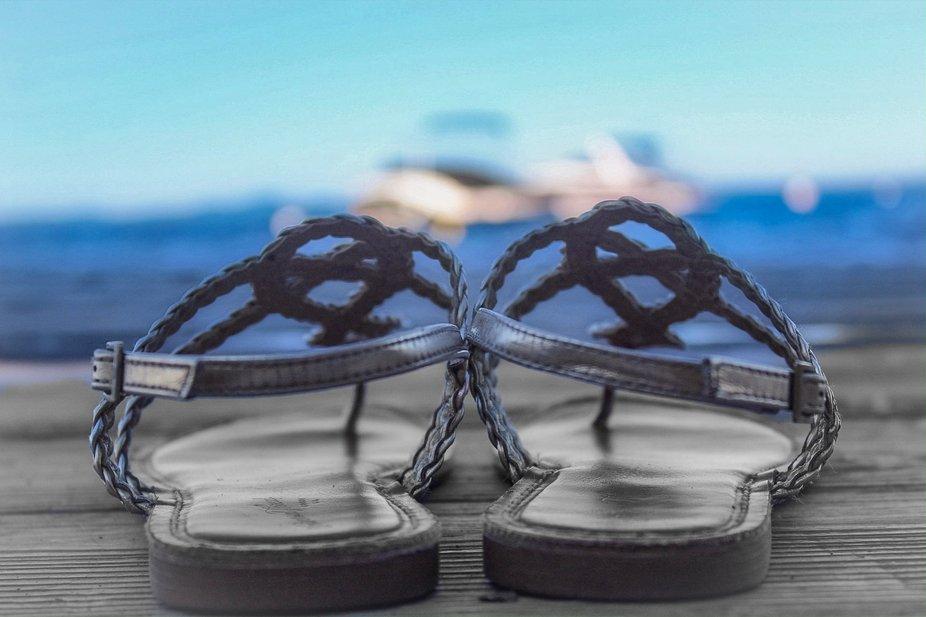 Sandles in summer @ Sebago Lake