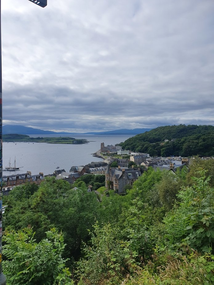 The view from McCaig's Tower in Oban.