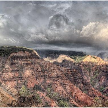 _S6A4863_4_5_6_7_8_9 Waimea Canyon Falls - resize matted