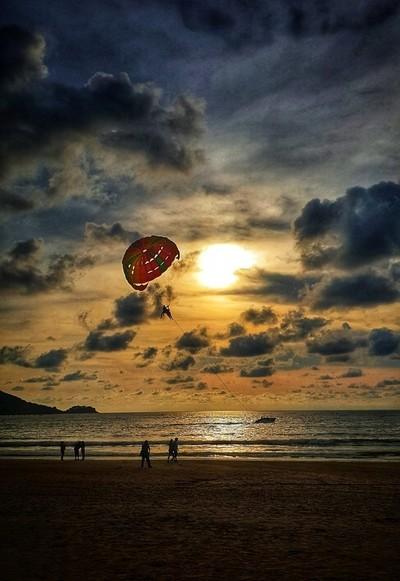 Patong beach at Sunset