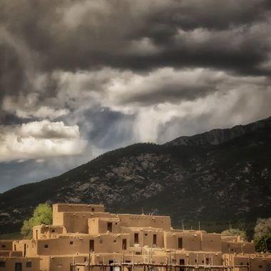 Gathering Storm, Taos Pueblo_