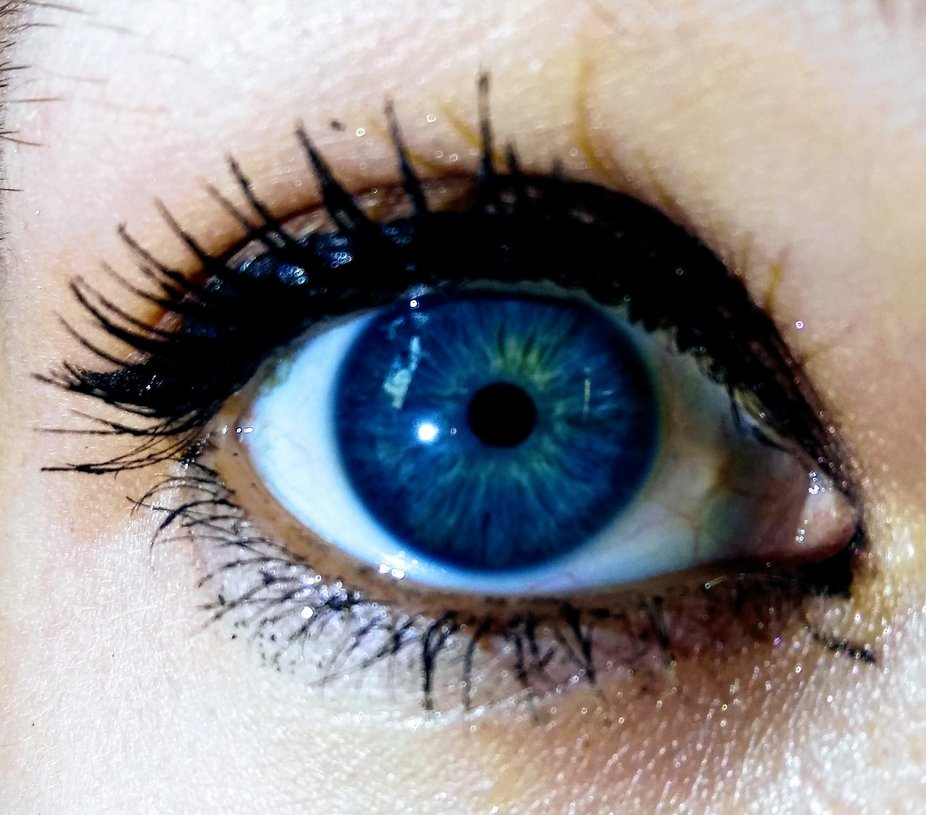 Blue eye of a friend