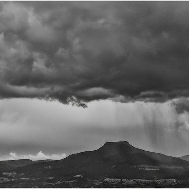 Storm Breaking over the Pedernal